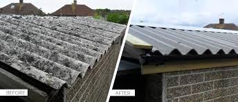 garage roof repair. asbestos garage roof repair n