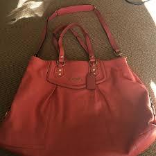coach handbags salmon color coach leather purse