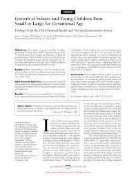 Pdf Growth Of Infants And Young Children Born Small Or
