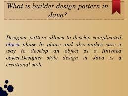 Builder Design Pattern In Java What Is Builder Design Pattern In Java By Arshi Bano Issuu