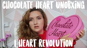 chocolate heart unboxing i heart revolution 2018 bkmate