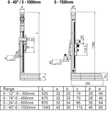 vernier height gauge. vernier height gage series 514-standard with adjustable main scale gauge