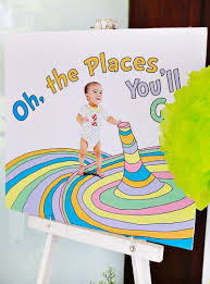 Dr Seuss Party Decorations Playful Oh The Places Youll Go First Birthday Party Hostess
