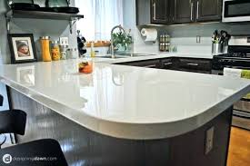 painting kitchen countertops with chalk paint acrylic white