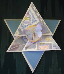 Triangle Star Fold Card Cindees World Of Paper