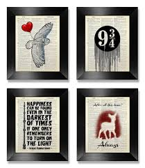 harry potter gift set harry potter print set of 4 harry