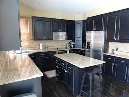painting kitchen cabinets without sanding black wooden kitchen cabinets granite kitchen cabinets counter top freezer freestanding cooker recessed lamp