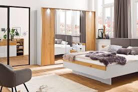 Casada Schlafzimmerschrank Calgary Eiche Spiegel Möbel Letz