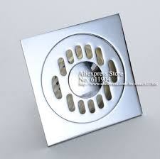 get ations polished chrome bathroom kitchen square floor trap shower drain waste grate with hair strainer