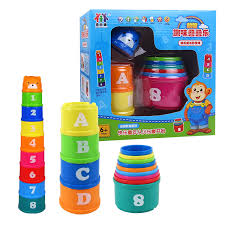 lok pui hong piles cup blocks infant toys 0 6 months 1 year old