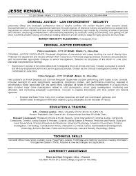 Law Enforcement Objective For Resume Resume Bank