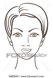 美しい女性 顔 ベクトル イラスト クリップアート切り張りイラスト絵画集