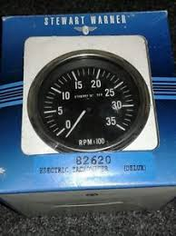 vintage tachometer nos vintage stewart warner 82620 electric 3 3 8 deluxe tachometer 0 3 500 rpm