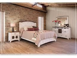 International Furniture Direct 360 Pueblo White Queen Bed Frame