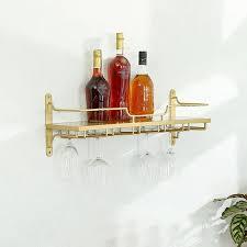 nordic wall mounted wine rack glass