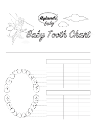 Baby Tooth Chart Template Free Download