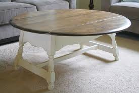 Coffee Table Painting Diy Painted Round Coffee Table Coffee Addicts