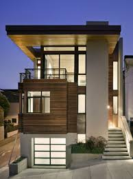 exterior large size magnificent flat roof design with alluring simple two levels floor contemporary house