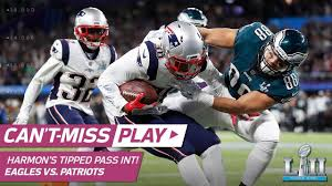 Duron Harmon Snags Pick Off Foles' Tipped Pass!   Can't-Miss Play   Super  Bowl LII NFL Highlights - YouTube