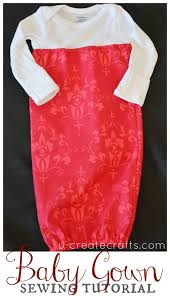 diy baby gown sewing tutorial