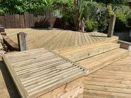 garden carpentry timber decking design