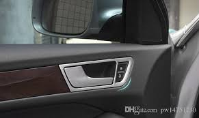 2018 car styling car interior door handle decorative frame cover stainless steel strip car door trim 3d sticker for audi q5 12 15 from pw14751230
