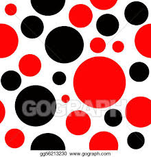 red black and white polka dot backgrounds. Red And Black Polka Dot Seamless Background Throughout White Backgrounds GoGraph