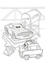 Kleurplaat Cars 2 Rod Torque Redline En Zundapp Color Pages