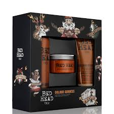 tigi bed head colour dess shoo conditioner and mask gift set description
