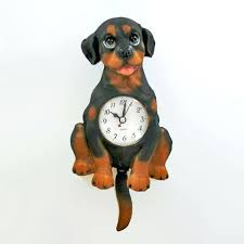 to enlarge novelty wall clocks australia rottweiler figurine dog pendulum clock with wagging