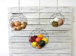 Handmade Hanging Wire Fruit or Vegetable Sphere Basket Set USD) by  CharestStudios