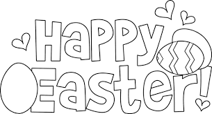 easter clipart to color. Plain Color Happy Easter Coloring Pages With Clipart To Color