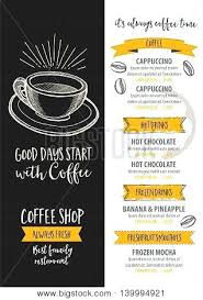 Flyer Templates For Cafe Menu Template Coffee Shop Free Word Vector ...