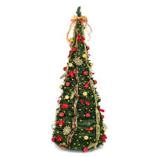 6FT Predecorated Artificial Christmas Tree w/ Stand Ornaments Included