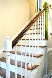 pictures of painted wood stairs painting stair ballasts white how to paint wooden non slip for