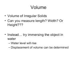 What Is Volume In Science The Nature Of Science And Technology Chapter 2