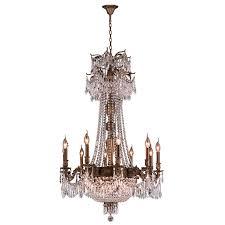 worldwide lighting w inter 36 in 18 light antique bronze crystal candle chandelier