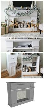 ana white build a faux fireplace mantle with storage cabinets free and easy diy project and furniture plans