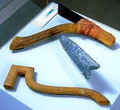 ancient adze. tools; cmc s97-10937 ancient adze