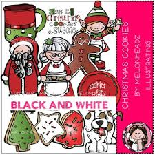 christmas cookies clip art black and white. Delighful Art Christmas Cookies Clip Art  BLACK AND WHITE By Melonheadz With Clip Art Black And White O