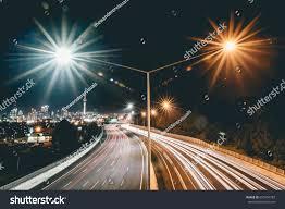 Night Light Auckland Light Trails City Auckland Stock Photo Edit Now 650704783