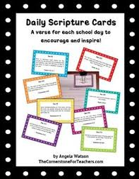 Daily Scripture Cards For Teachers A Verse A Day To Encourage And