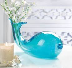 Small Picture Art Glass Whale Vase Wholesale at Koehler Home Decor