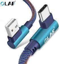 <b>OLAF</b> 2m USB <b>Type C</b> 90 Degree Fast Charging <b>usb c</b> cable <b>Type c</b> ...