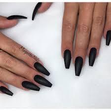 Black Coffin Shape Nail Designs Matte Black Coffin Nails Black Acrylic Nails Matte Black