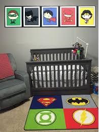 nursery room decor baby justice league
