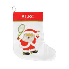 personalized tennis Christmas gifts Large Christmas Stocking - Xmas  ChristmasEve Christmas Eve Christmas merry xmas family