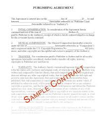 Publishing Agreement Template Music Contract Templates Contracts ...