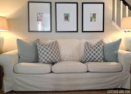 when we purchased our sofa it came with a white slip cover i usually use it spring late summer then switch to the svanby beige which i don t think they