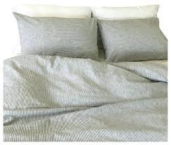 black and white ticking striped duvet cover set handmade linen full queen stripe uk f